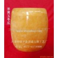米黄玉冬瓜骨灰罐