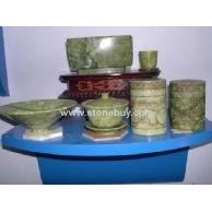 玉石,大理石盘,碗,罐,杯