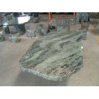 三立达翡翠绿花岗岩园林桌