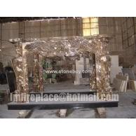 F-015(啡网雕刻壁炉Fireplace Mantel)