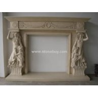 F-020(人物雕刻壁炉Fireplace Mantel)