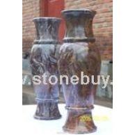 竹叶石花瓶