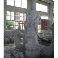 石雕刻佛像滴水观音G633站莲花人物圆雕塑寺庙佛教宗教菩萨雕像园林景观公园