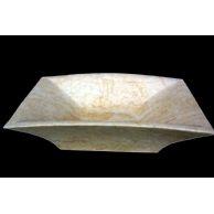 大理石洗脸盆YF-056金线米黄艺术盆