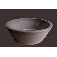 大理石洗手盆YF-091古典米黄2/3斜桶