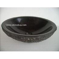 花岗岩洗手盆YF-054B丹巴黑毛面