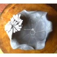 天然菊花石烟灰缸