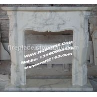 F-156意大利大花白雕花壁炉架CARRARA FIREPLACE