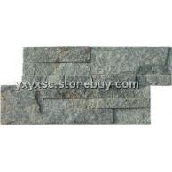 绿石英文化石,石英,绿色文化石,天然石材