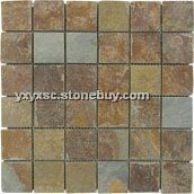 锈板马赛克,马赛克,石材马赛克,天然板岩,河北锈板
