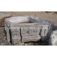 太湖石 石槽水槽 石盆0227