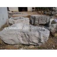 太湖石 雕刻的石槽 石盆0226