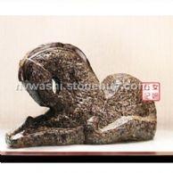 叶青女娲石十二生肖雕刻品