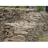 虎皮黄(黄木纹)板岩条石