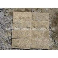 河北石材批发 虎皮黄(黄木纹)蘑菇石