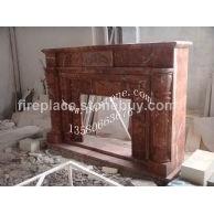 F-193出口美国珊瑚红雕刻壁炉Rojo Alicanto Mantel