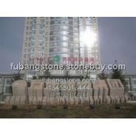 五莲红石材立体字雕刻万正投资集团