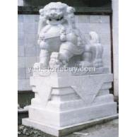 汉白玉石狮子