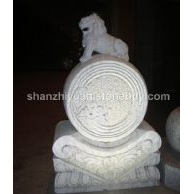 供应白砂岩石狮雕像