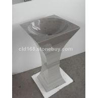 专业生产大理石盆YF187 立柱盆
