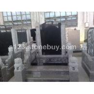 祥云传统型中式墓碑石