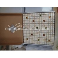 MT-010希腊进口金蜘蛛大理石光面马赛克地板Golden Spider mosaic tiles