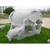 石雕大象,石象,大象,子母象
