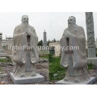 石雕孔子雕塑,花岗岩孔子雕塑