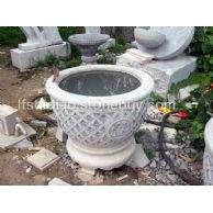 石雕花盆水盆,水钵