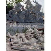 石雕龙,石雕九龙壁,龙文化壁,华表龙柱中华柱,龙戏珠戏水,蟠龙等各种龙型石雕