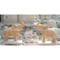 供应石雕大象汉白玉大象曲阳建保工艺雕刻厂