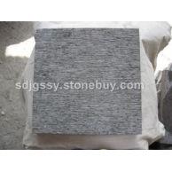 蓝色石灰石剁斧面