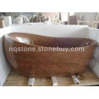 T-012黄木纹大理石艺术浴缸(BATH TUB)