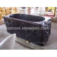 T-010出口中东黑色大理石雕刻浴缸(BATH TUB)