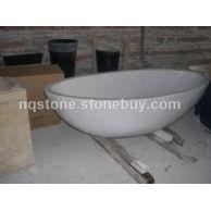 T-007出口美国白色大理石浴缸(BATH TUB)
