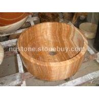 B-056木纹黄桶形艺术洗手盆BASIN