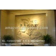 人造砂岩浮雕 电视背景前 装饰艺术墙 圆雕 柱子 餐台