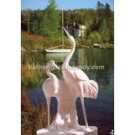 曲阳雕塑园林雕塑仙鹤雕塑