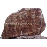 供应红木纹大理石荒料