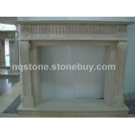 F-242伊朗洞石壁炉架TRAVERTINE FIREPALCE MANTEL