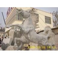 天青石蓝色石灰石石雕产品