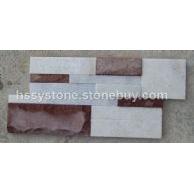 雪花白和红砂岩 混合文化石