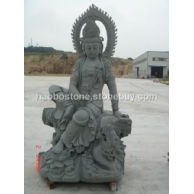 观音雕像 石雕 青石佛像雕刻 人物雕刻 寺庙雕刻