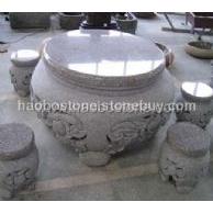 石桌凳 园林雕刻 石雕 石制品 庭院家具 庭院