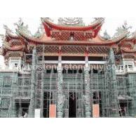 寺庙建筑 石雕 龙柱