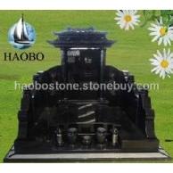 中式墓碑 雕刻