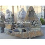 园林景观石雕喷水池喷泉花钵栏杆石狮大象