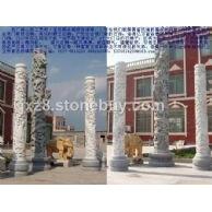 文化柱石雕华表龙柱,中华柱,九龙壁,游龙蟠龙等龙文化石雕