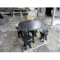 黑色石桌子,青石桌子,抛光石桌子