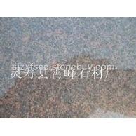 茶花红石材_毛板